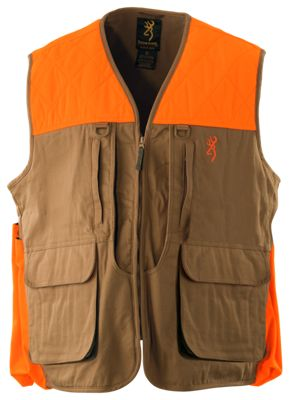 Browning Upland Canvas Vest for Men - Tan/Blaze - S thumbnail