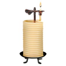 Eclipse Home Decor Candle by the Hour Unscented Beeswax Candle with Vertical Stand