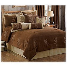 Browning Buckmark Embroidered Suede Collection Comforter Set
