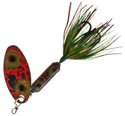 Worden's Original Rooster Tail – 1/8 oz. – Frog Bleeding