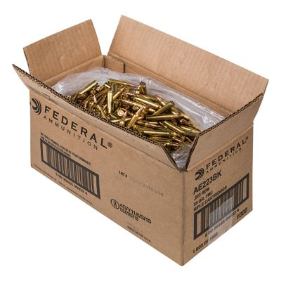 Click here to buy Federal American Eagle .223 Rem Target Centerfire Rifle Ammo.