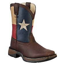 Lil' Durango Texas Flag Pull-On Western Boots for Toddlers or Kids