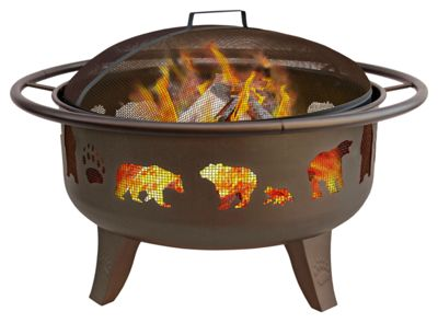 Landmann USA Patio Lights Fire Pit - Bears and Paws