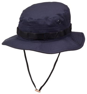 3ae7a42322f This boonie is sewn to military specification MILH44105B. Vent holes on  either side allow for air circulation while an adjustable chin strap ...
