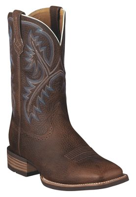 Ariat Quickdraw Square Toe Western Boots for Men Brown Oiled