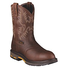 Ariat Workhog H2O Waterproof Safety Toe Pull-On Work Boots for Men