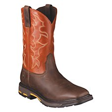 Ariat Workhog Wide Square Toe Pull On Work Boots for Men