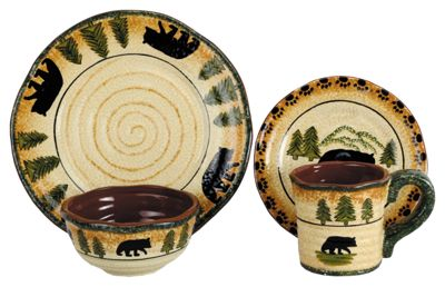 ... name u0027Ceramic Bear 16-Piece Dinnerware Setu0027 image u0027//basspro.scene7.com/is/image/BassPro/2081651_13111407163722_isu0027 type u0027ItemBeanu0027 ...  sc 1 st  Bass Pro Shops & Ceramic Bear 16-Piece Dinnerware Set | Bass Pro Shops