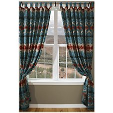 Turquoise Chamarro Collection Tab Drapes or Valance