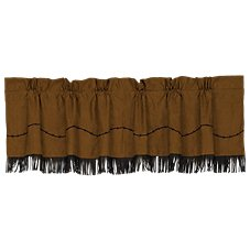 Barbwire Collection Fringe Faux Suede Valance