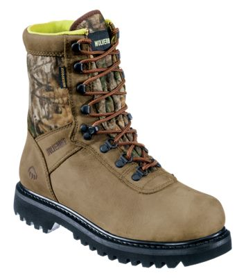 Wolverine Big Horn Waterproof Insulated Hunting Boots for Ladies – Natural/Realtree Xtra – Medium – 9