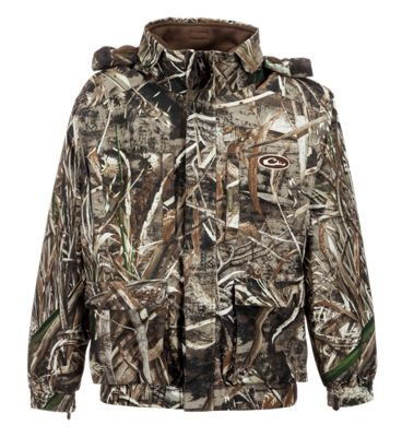 Drake Waterfowl Systems LST 3-in-1+2 Wader Coat for Youth – Realtree Max-5 – 10