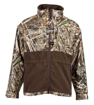 af42786e30390 Drake Waterfowl Systems MST Eqwader Plus Full Zip Shirt for Men Long Sleeve Realtree  Max 5 L