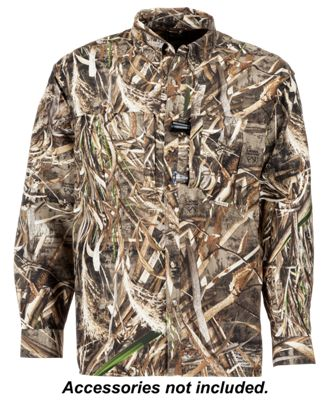 Drake Waterfowl EST Vented Wingshooter's Long Sleeve Shirt for Men – Realtree Max-5 – S
