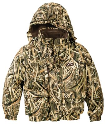Drake Waterfowl Systems Lst 3 In 1+2 Wader Coat For Youth Mossy Oak Shadow Grass Blades 10