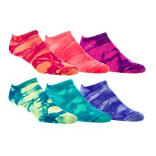 Natural Reflections No-Show Tie-Dye Socks for Ladies - 6-Pair Pack
