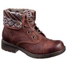 Natural Reflections Sarah Lace Up Boots for Ladies - Brown