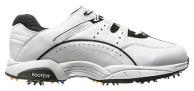 FootJoy SuperLites Athletic Golf Shoes for Men - White/Black - 13M