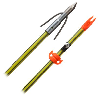 AMS Bowfishing Chaos XL Point with Complete Arrow Set - Yellow/Black - Carbon Shaft thumbnail