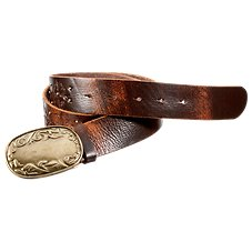 Natural Reflections Brass Buckle Studded Belt for Ladies