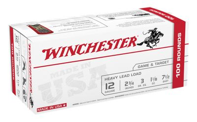 """Winchester USA Game and Target Load Shotshell Ammo Value Pack – 12 Gauge – 2-3/4"""" – 8 Shot Size"""