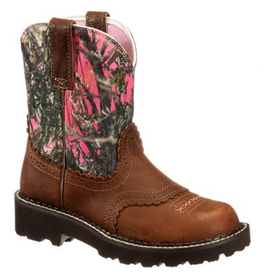 Ariat Fatbaby 8'' Western Boots for Ladies - Tanned Copper/Pink Camo - 11 thumbnail
