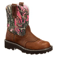 Ariat Fatbaby 8'' Western Boots for Ladies - Tanned Copper/Pink Camo