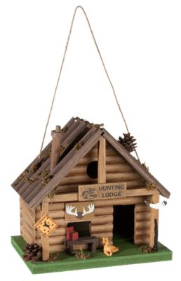 fc2592a87fa Bass Pro Shops Hunting Lodge Wooden Birdhouse