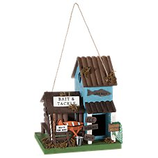 Sunset Vista Designs Bait and Tackle Wooden Birdhouse