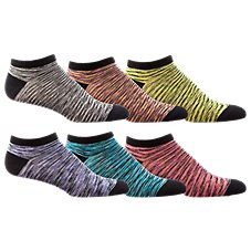 Natural Reflections No Show Space Dyed Socks for Ladies - 6-Pair Pack