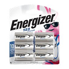 Energizer 123 3V Lithium Batteries - 6-Pack