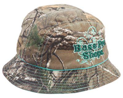 Bass Pro Shops 3D Script Bucket Hat for Youth - Realtree Xtra thumbnail