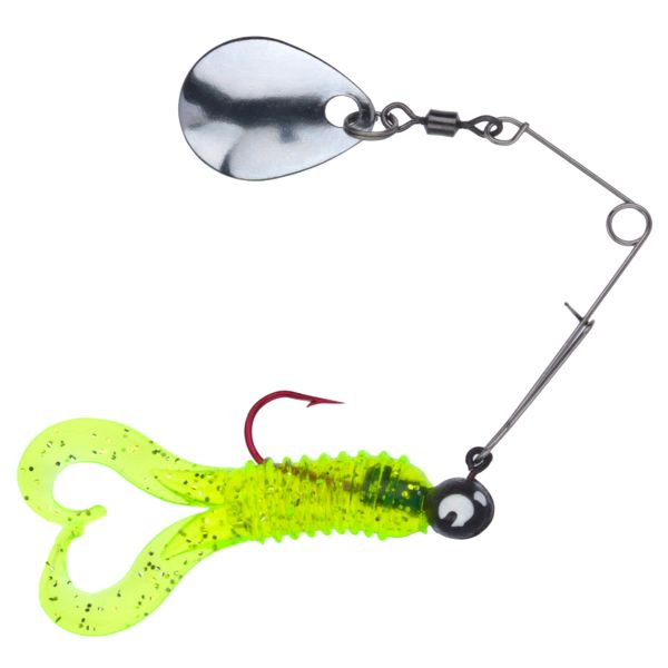 Uncle Buck's Panfish Creatures - Cajun Critter with Spinner - Chartreuse Silver Flake