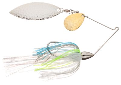 War Eagle Tandem Willow Spinnerbaits – 3/8 oz. – Nickel Frame – Sexxy Shad-Hammered Blades