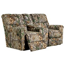 Lane Furniture Cabin Collection Dual Reclining Console Love Seat