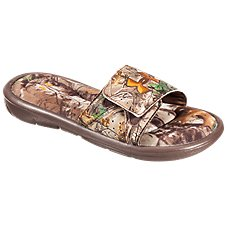 Under Armour Ignite IV Camo Slide Sandals for Boys