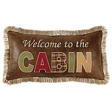 Bob Timberlake Cedar Lake Welcome to the Cabin Throw Pillow