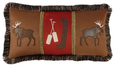 Click here to buy Bob Timberlake Hearthside Moose and Canoe Throw Pillow.