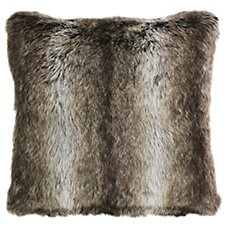 Bob Timberlake Chinchilla Faux Fur Throw Pillow
