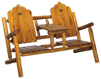 Mountain Time Chairs Double Log Adirondack Chair