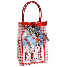 Chocolate Reindeer Cookie Mix and Cutter Kit