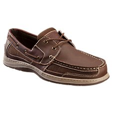 World Wide Sportsman Water Front 2-Eye Boat Shoes for Men - Brown