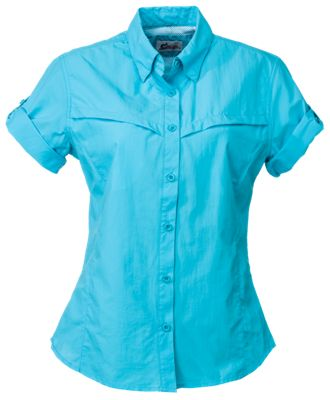 World Wide Sportsman Boca II Nylon Shirt for Ladies - Scuba Blue - S