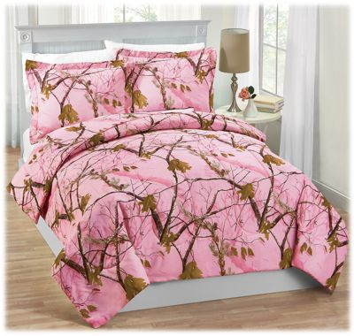 Realtree APC Pink Camo Comforter and Sham Set