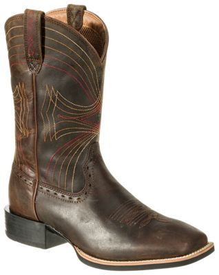 f3a97b5ff1c Ariat Sport 11 Wide Square Toe Western Boots for Men Distressed Brown 11