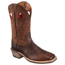 Ariat Heritage Roughstock 14'' Wide Square Toe Western Boots for Men - Brown Oiled Rowdy