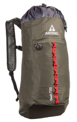 Ascend Dash 720 Lightweight Backpack - Green/Red