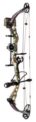 BlackOut Intrigue Compound Bow Package - Realtree Xtra/Red - Right Hand