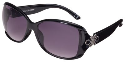 Foster Grant Sublime Sunglasses for Ladies - Shiny Black/Smoke Double Gradient