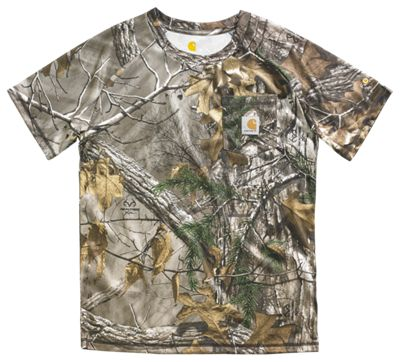 Carhartt Force Camo Pocket T Shirt for Boys Realtree Xtra L